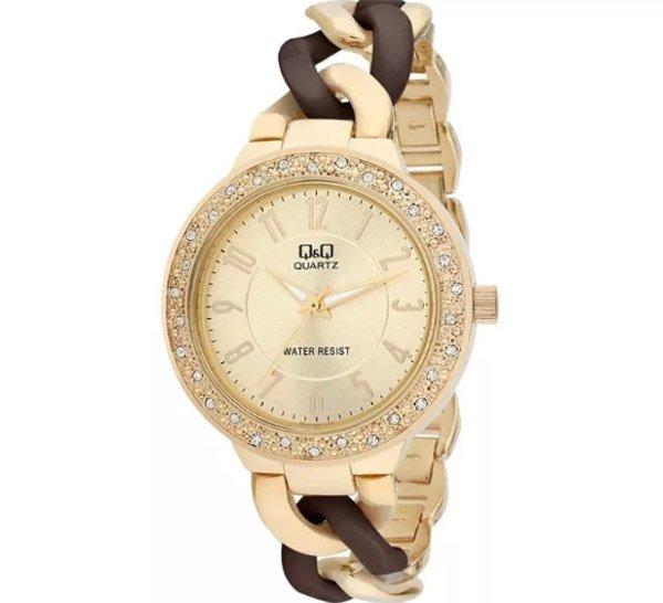 b1f1a844 Кварцевые женские часы бренда Q&Q – пример качественного механизма по  недорогой цене. Для изготовления продукции фирма использует минеральное  стекло, ...